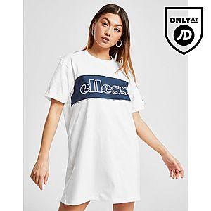 53790084 Ellesse Piping Panel T-Shirt Dress ...