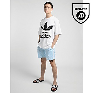 adidas Originals Linear Monogram Thigh-High Swim Shorts