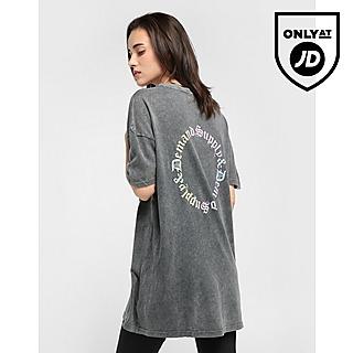 Supply & Demand Ombre Graphic T-Shirt Dress Women's