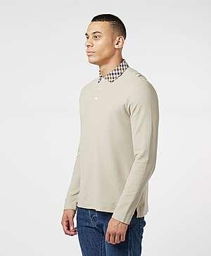 9c7338d72 ... Aquascutum Club Check Collar Long Sleeve Polo Shirt