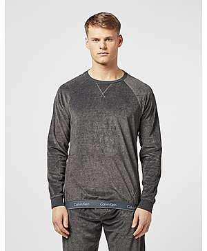 c0b8c2917 Calvin Klein Velour Crew Sweatshirt ...