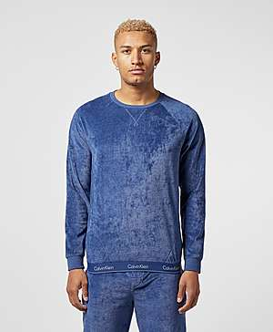 09ec9ad56 Calvin Klein Velour Crew Sweatshirt ...
