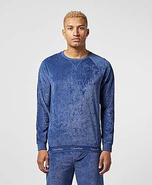 45dec88c Calvin Klein Velour Crew Sweatshirt ...