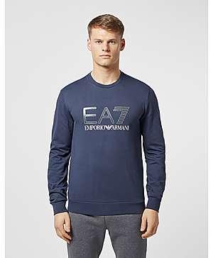 9f281da17 Emporio Armani EA7 Carbon Logo Crew Sweatshirt ...