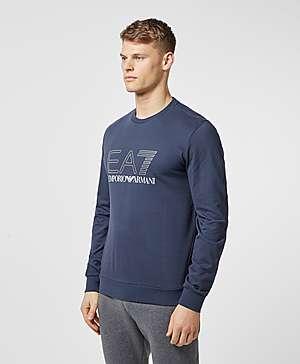 19eba67b4d ... Emporio Armani EA7 Carbon Logo Crew Sweatshirt