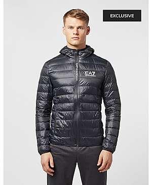 f5b02514c7 Emporio Armani EA7 Branded Zip Bubble Jacket ...