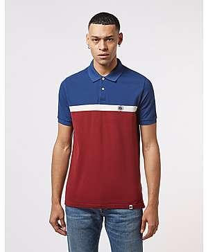 4606103c5c3e6 Pretty Green Short Sleeve Colour Block Polo Shirt ...