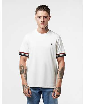 1450fcc5f Fred Perry Stripe Cuff Short Sleeve T-Shirt ...