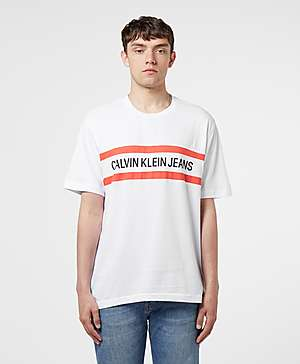b1c7f8f55 Calvin Klein Chest Stripe Short Sleeve T-Shirt ...