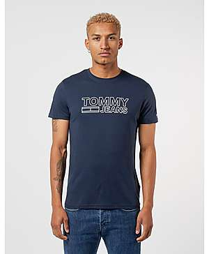 507b2ab5 Tommy Jeans Corporate Outline Logo Short Sleeve T-Shirt ...