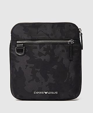Emporio Armani Jacquard Camo Crossbody Bag