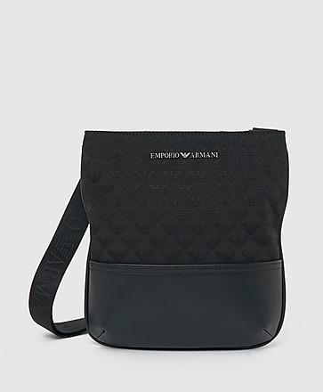 Emporio Armani Jacquard All Over Eagle Crossbody Bag