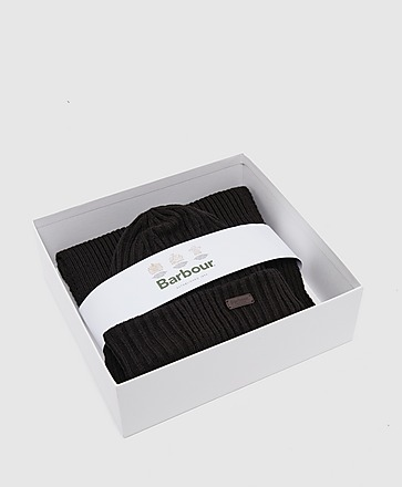 Barbour Crimdon Beanie & Scarf Gift Set
