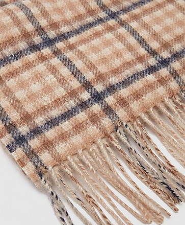 Barbour Check Merino Scarf - Exclusive