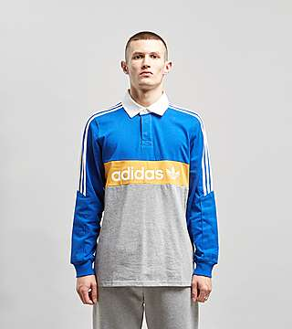 5fa4cab6fbf adidas Originals Heritage Long Sleeve Rugby Polo Shirt