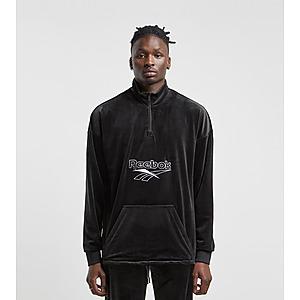 Reebok Classics Vector Velour Half Zip Sweatshirt Black