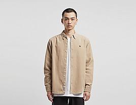 brown-carhartt-wip-madison-cord-long-sleeve-shirt