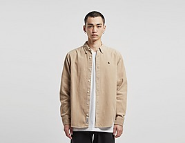 brown-carhartt-wip-madison-cord-long-sleeve-shirt