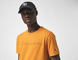 yellow-champion-wash-script-t-shirt