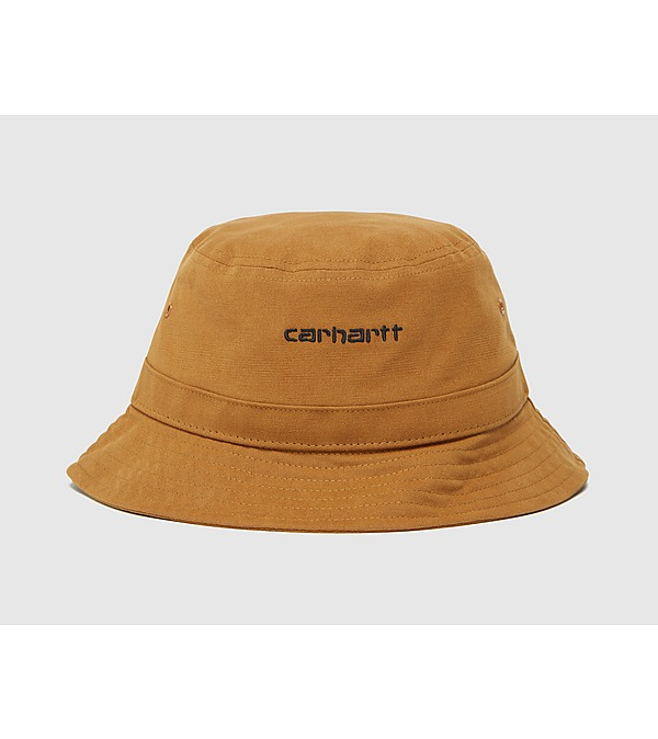brown-carhartt-wip-script-bucket-hat