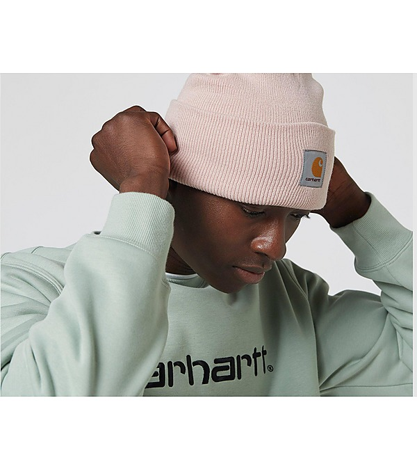 pink-carhartt-wip-watch-beanie-hat