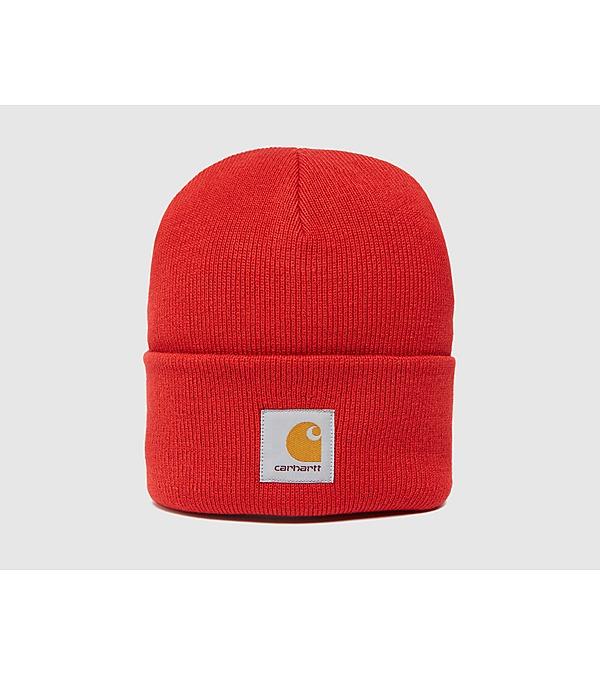 red-carhartt-wip-watch-beanie-hat