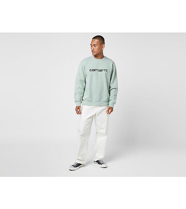 green-carhartt-wip-script-sweatshirt