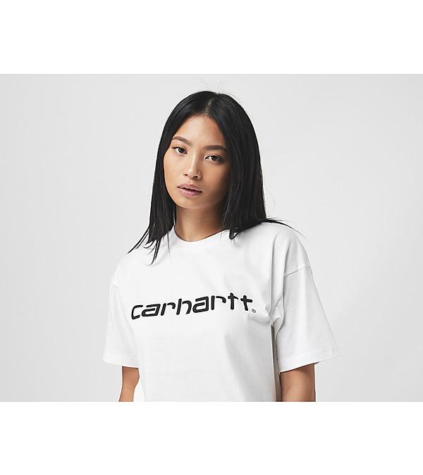 white-carhartt-wip-script-t-shirt