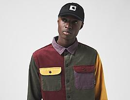 green-huf-cord-block-overshirt