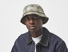 white-stussy-big-logo-plaid-bucket-hat