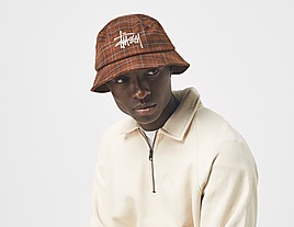 brown-stussy-big-logo-plaid-bucket-hat