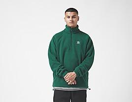 green-adidas-originals-adicolor-polar-half-zip-fleece