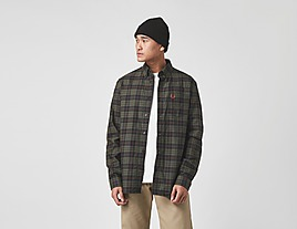 multi-fred-perry-brushed-oxford-tartan-shirt