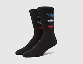 black-adidas-originals-trefoil-cuff-crew-socks
