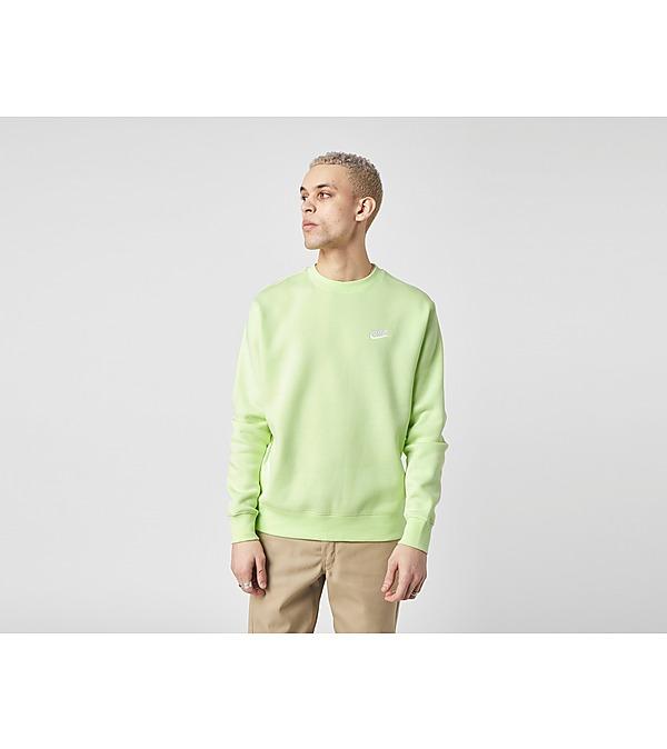 green-nike-club-crew-sweatshirt