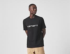 black-carhartt-wip-script-t-shirt