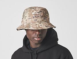 green-carhartt-wip-script-bucket-hat