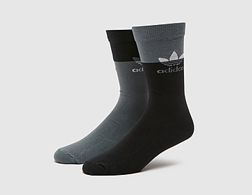 adidas Originals 2 Pack Colourblock Thin Crew Socks
