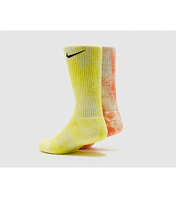 Nike Chaussettes Crew Everyday Plus Tie-Dye Pack de 2