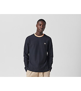 Fred Perry Authentic Long Sleeve Crepe Jersey T-Shirt
