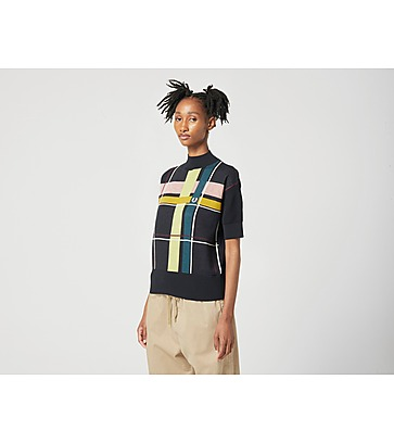 Fred Perry Jacquard Knit Polo Shirt Women's