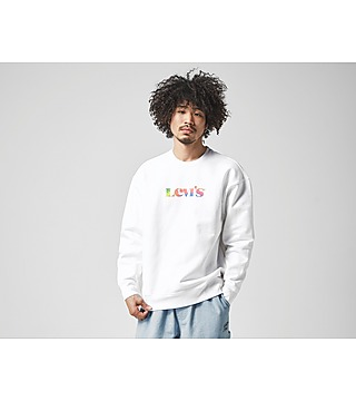 Levis Logo Fleece Crew Sweatshirt