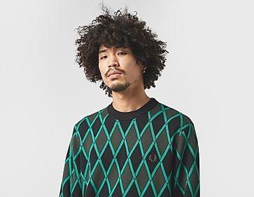 Fred Perry Harlequin Crewneck Sweatshirt