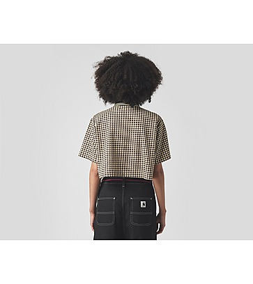 Fred Perry Amy Winehouse Cropped Gingham Pique Shirt