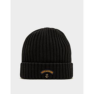 bb5319be9 Paul and Shark Ribbed Knitted Logo Beanie