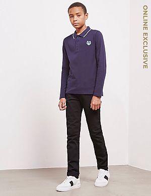 213ac7d13 KENZO Tiger Long Sleeve Polo Shirt KENZO Tiger Long Sleeve Polo Shirt