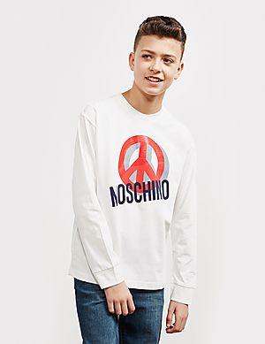 ba9b71c4 Moschino Large Peace Long Sleeve T-Shirt ...