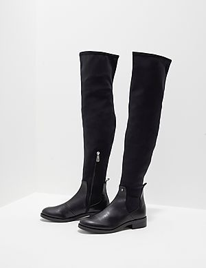 4b9e1e1ab Armani Exchange Neoprene Knee High Boots ...