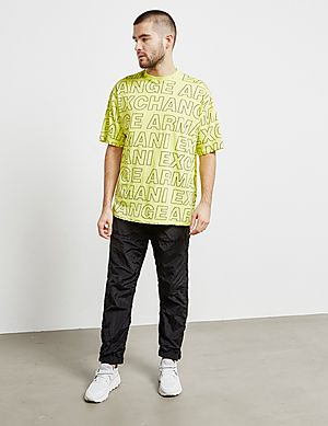325fa97d ... Armani Exchange All Over Letter Print Short Sleeve T-Shirt