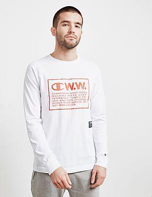 4093842f6c52 Champion x Wood Wood Box Logo Long Sleeve T-Shirt ...